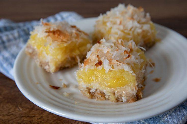 Pineapple Coconut Bar Cookies