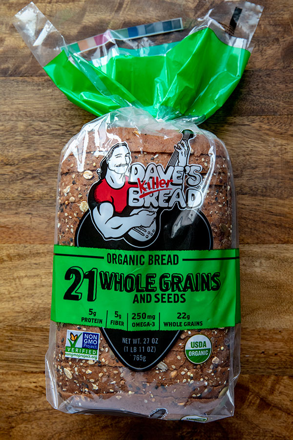 A bagged loaf of Dave\'s Killer Bread