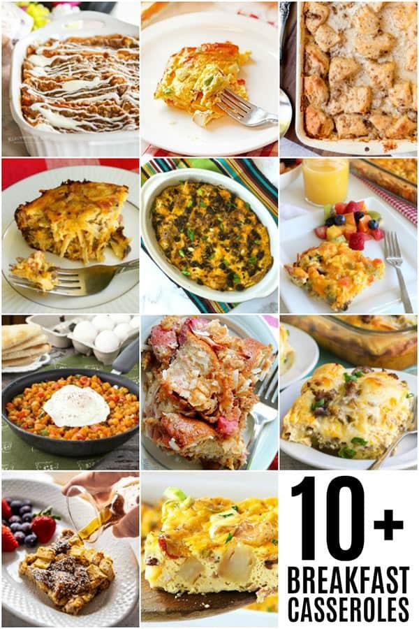 collage of Breakfast Casserole Roundup Photos