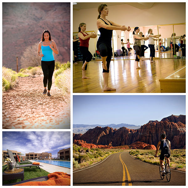 collage of activities at the Red Mountain Resort