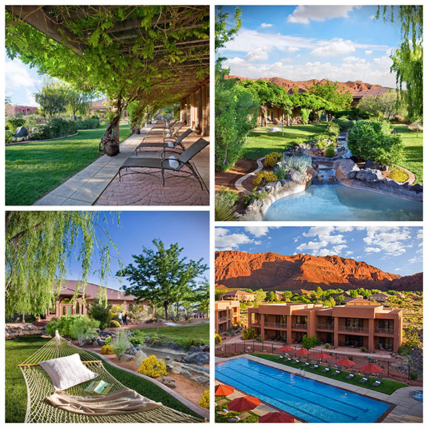 collage of Red Mountain Resort Grounds