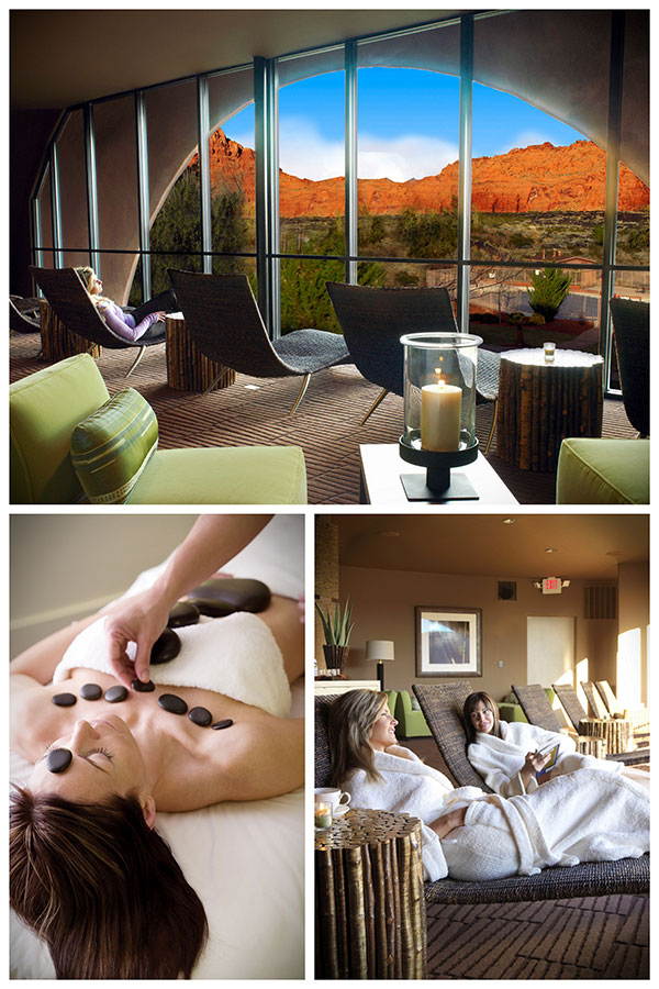 collage from the Red Mountain Resort Spa