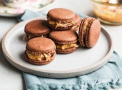 Featured image for Samoa Chocolate Macarons
