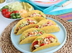 Easy Ground Beef Tacos Plated