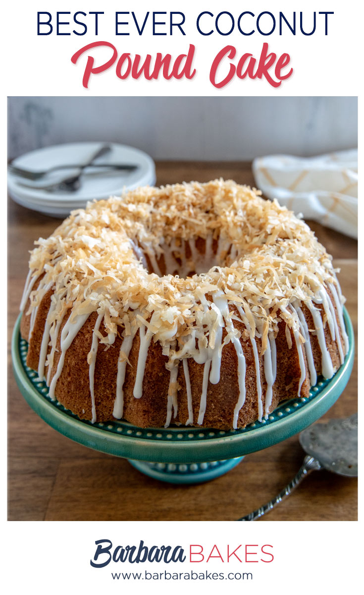 Best Ever Coconut Bundt Cake Pinterest Image