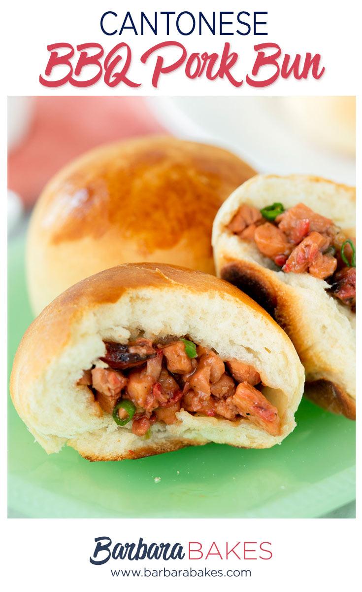 pinterest button for cantonese BBQ pork buns