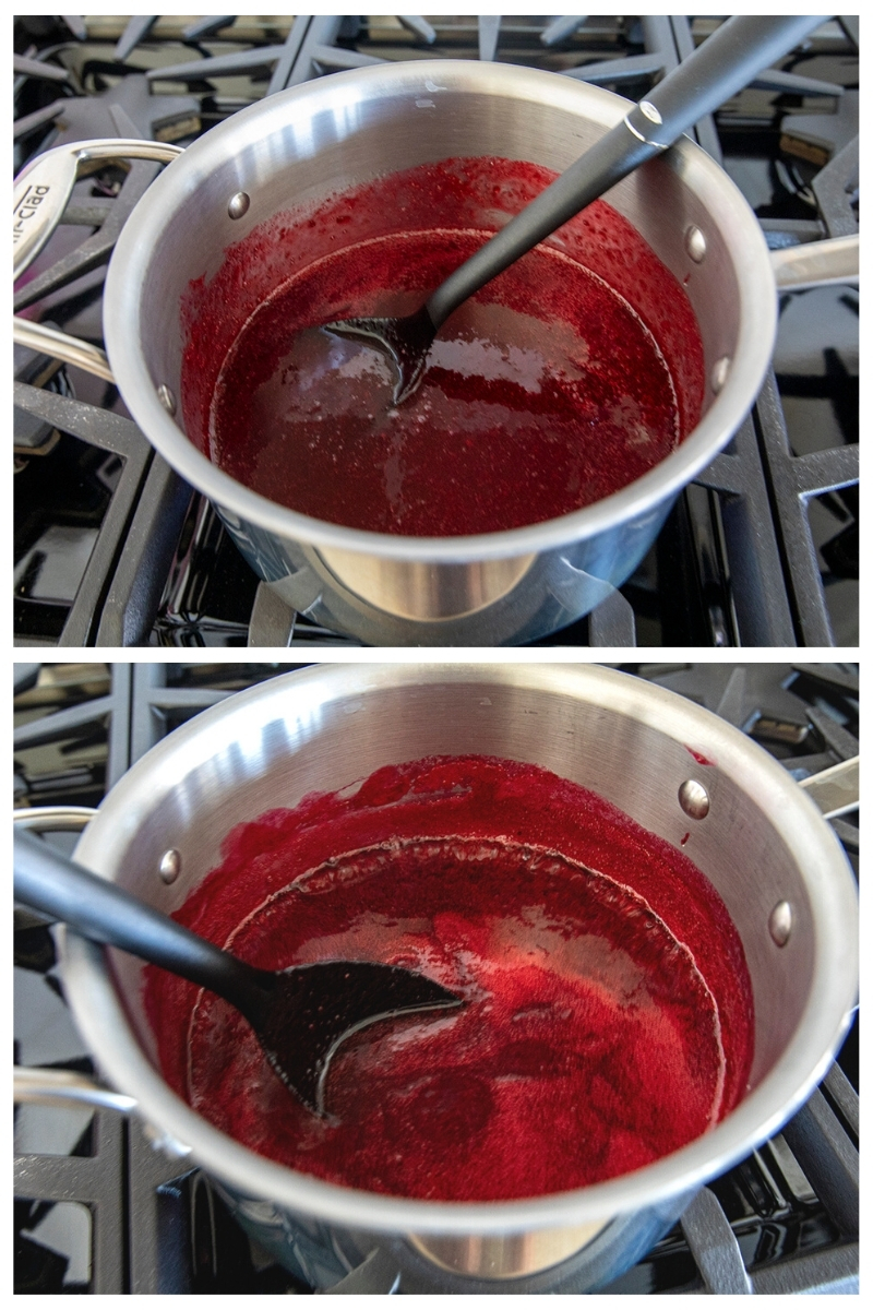 thickening jellied cranberry sauce