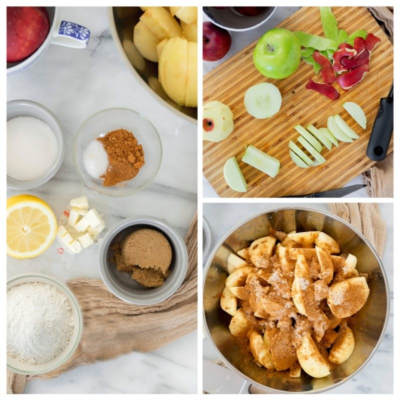 ingredients for homemade apple pie filling