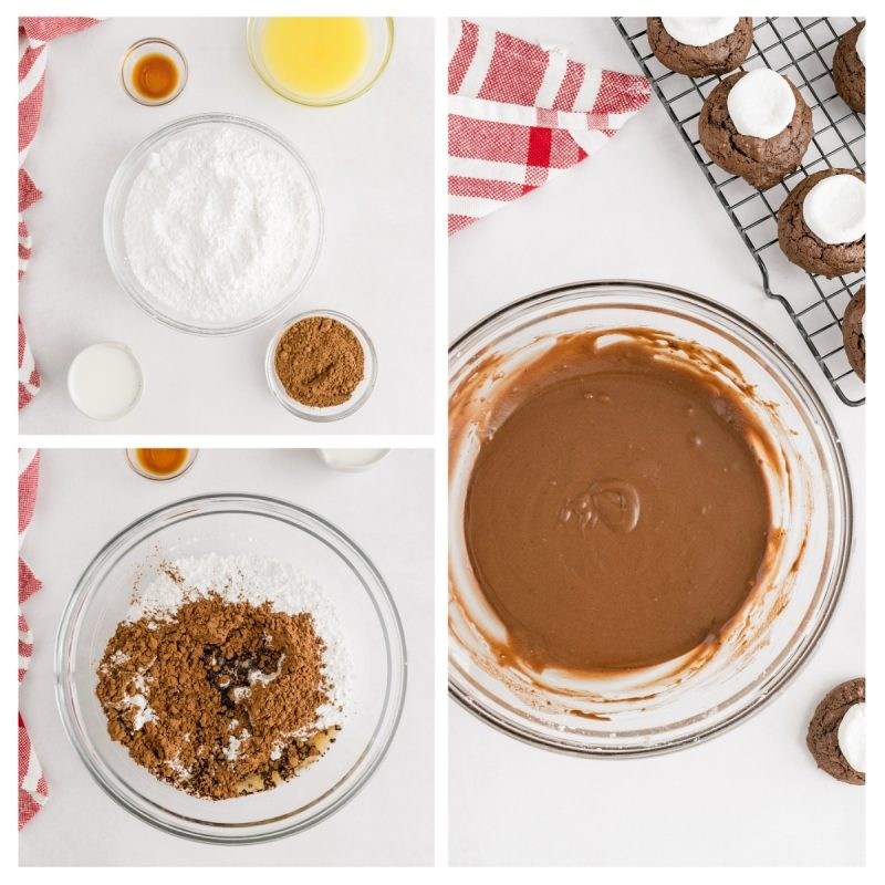 baking steps for chocoalte marshmallow cookies