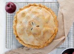 apple pie with golden crust