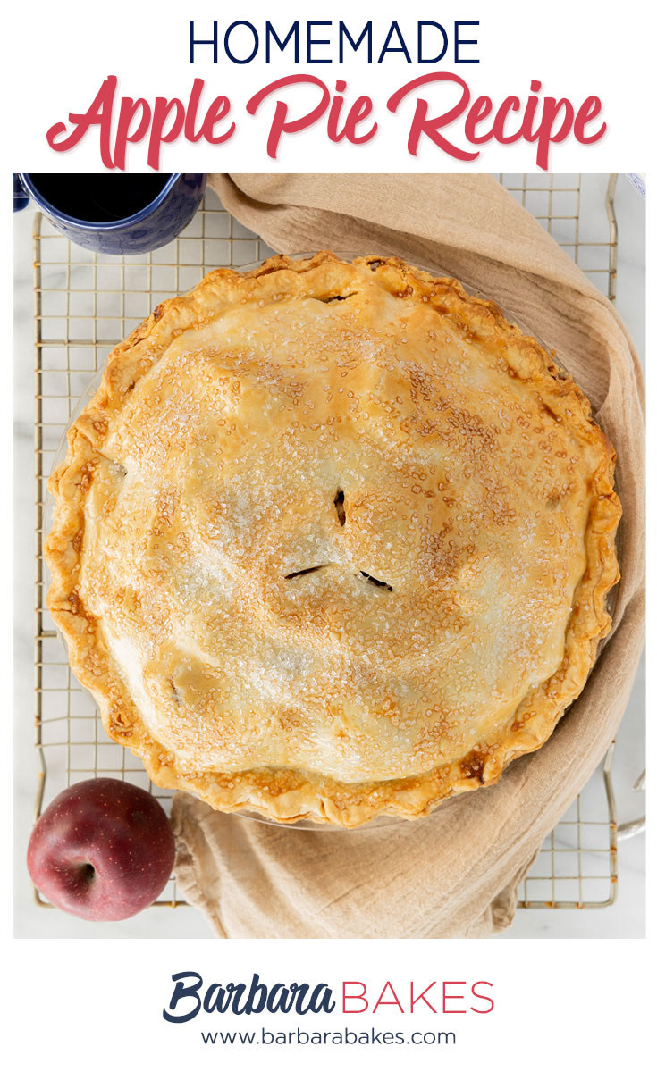 pinterest button for homemade apple pie