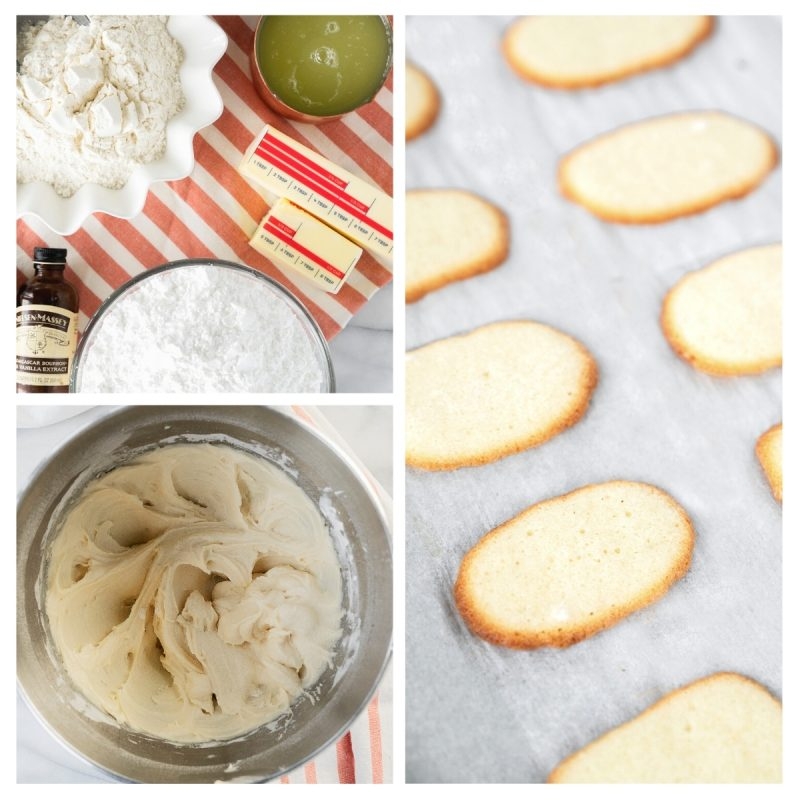 steps and ingredients for homemade milano cookies