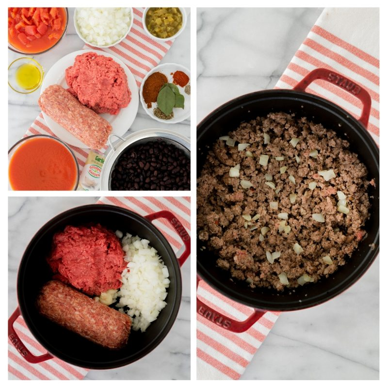 ingredients for thick oven baked chili