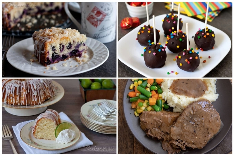 Popular Recipes of 2020. Key Lime Pound Cake, Lemon Blueberry Coffeecake, Brownie Pops and 3 Easy Round steak Meals