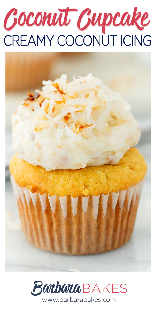 pinterest button for coconut cupcakes