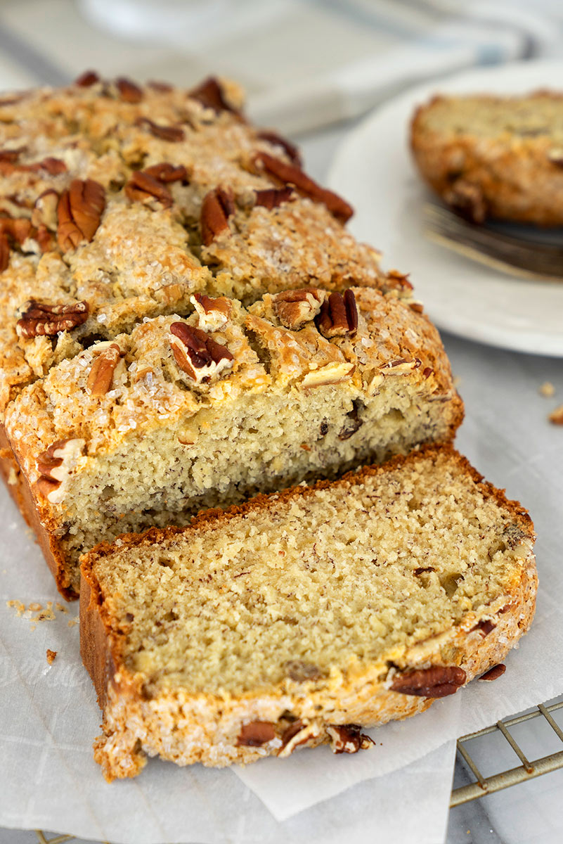 slices of banana bread with nuts
