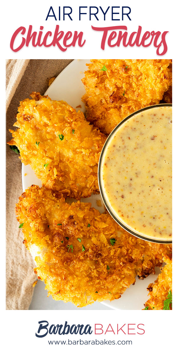 pinterest button for air fried chicken tenders