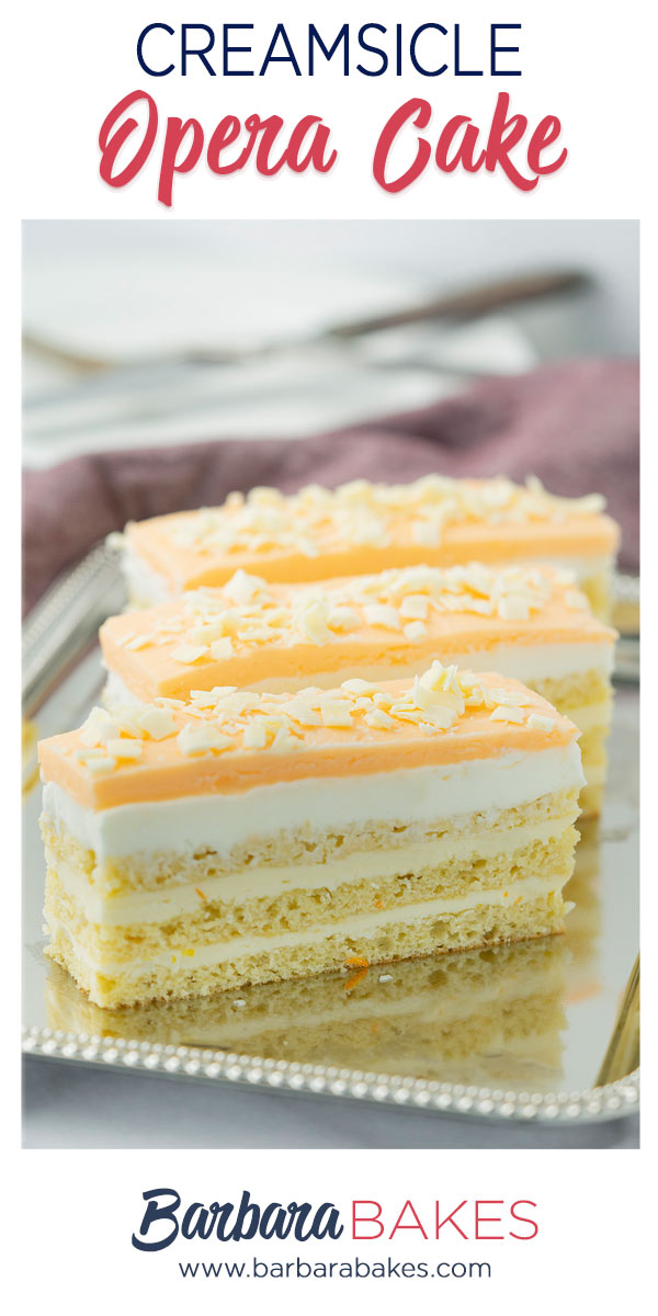 pinterest button for creamsicle layer cake