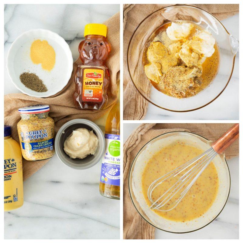 steps to make honey mustard dipping sauce