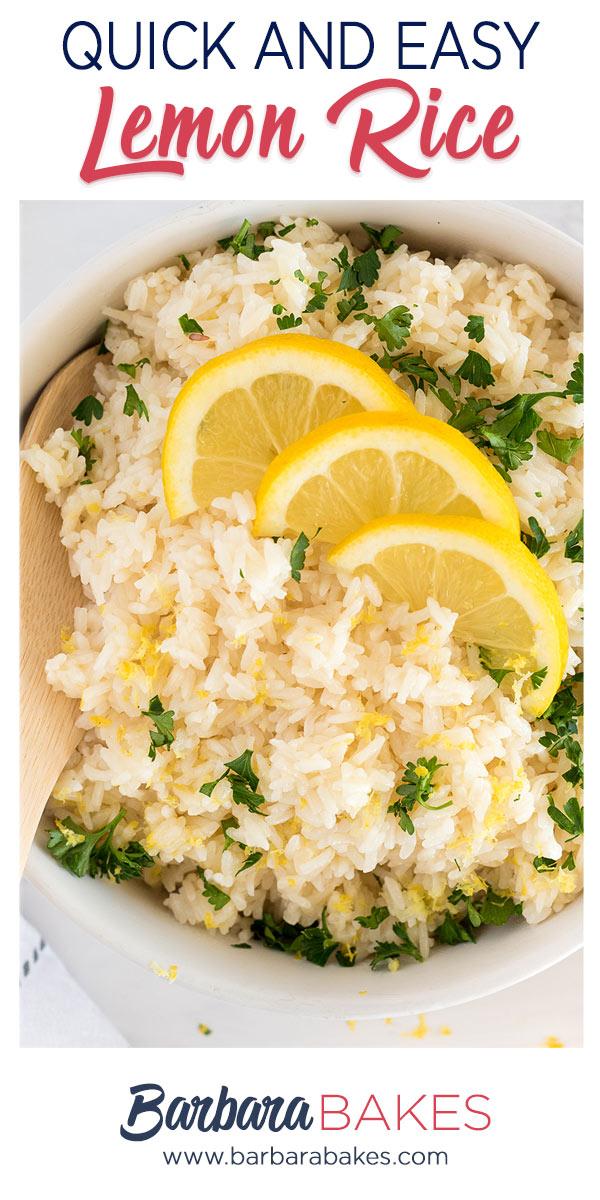 pinterest button for lemon rice