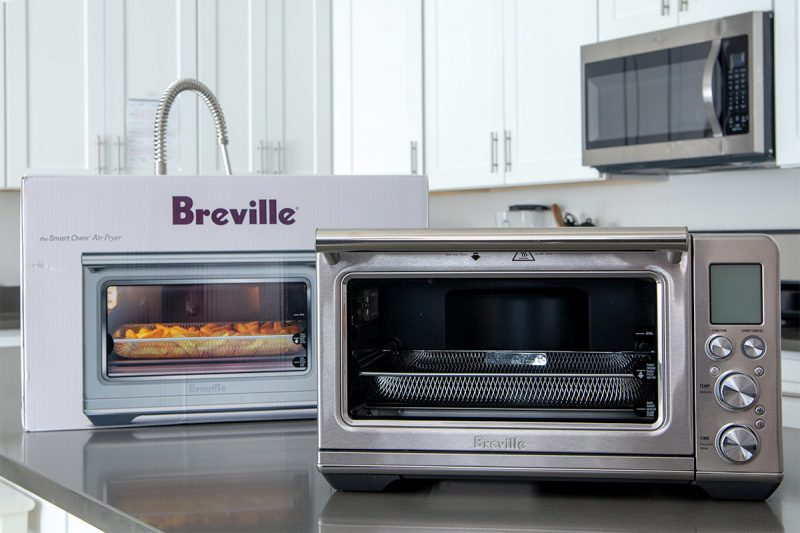 The Breville Smart Oven Air Fryer just removed from the box.