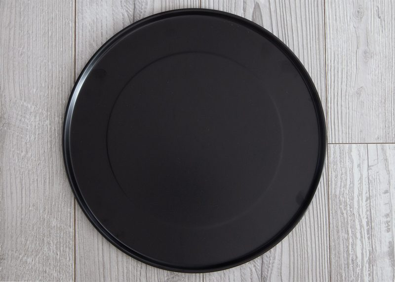 Overhead shot of the pizza pan included with the Breville Smar Oven Air Fryer