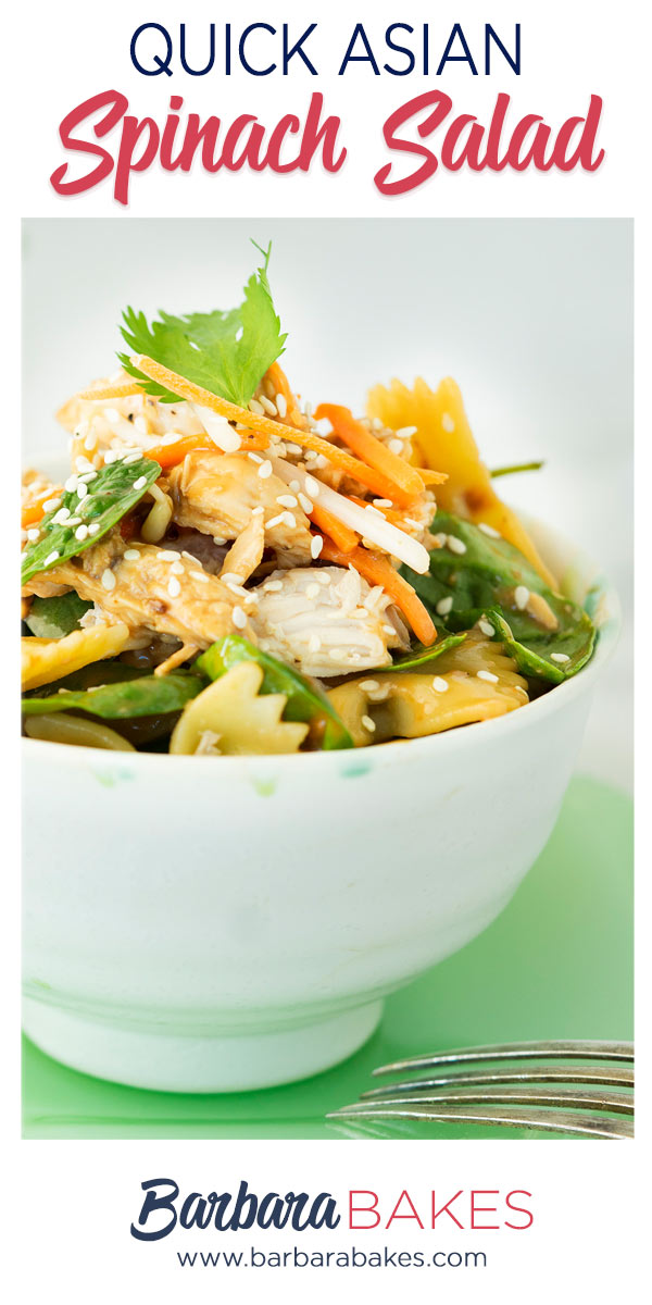 pinterest button for asian spinach salad