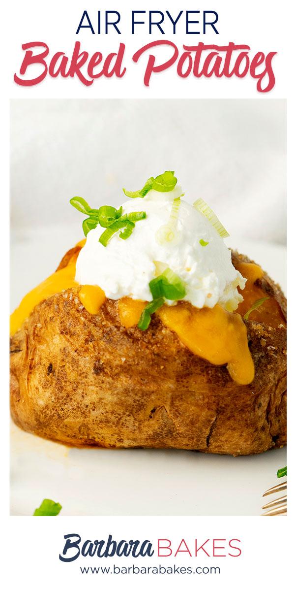 pinterest button for air fryer baked potato