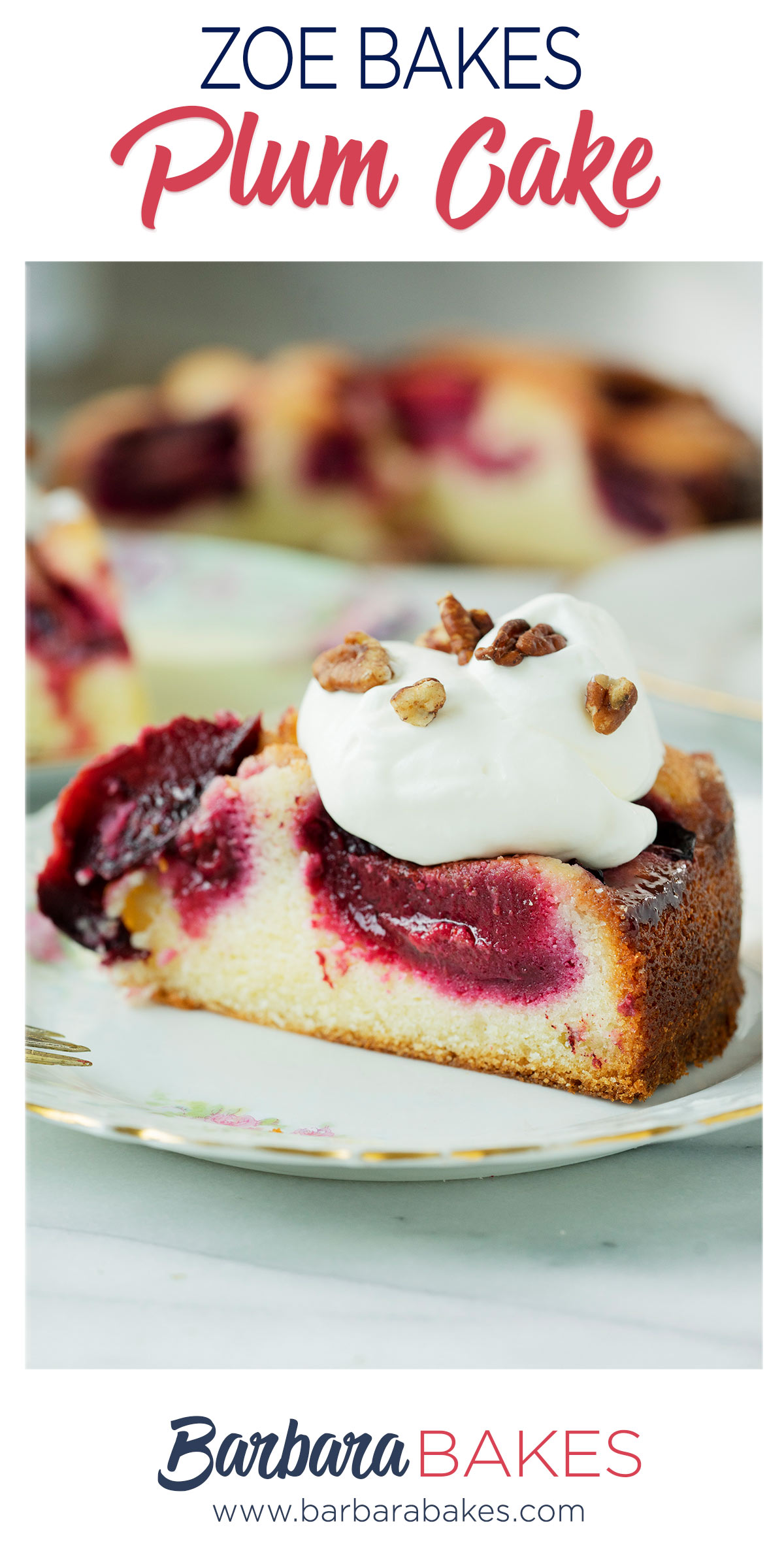 pinterest button for plum cake