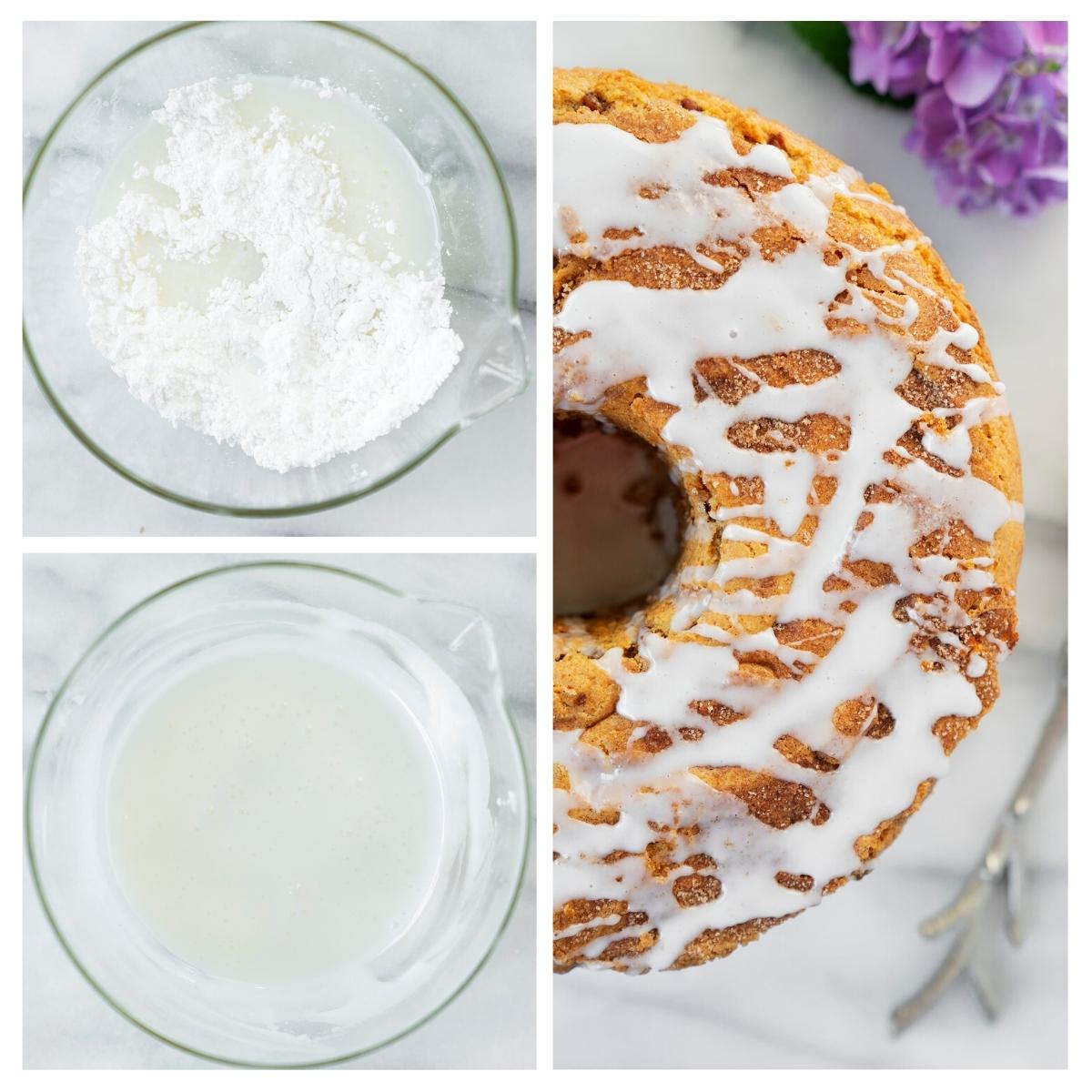 making white glaze for coffee cake