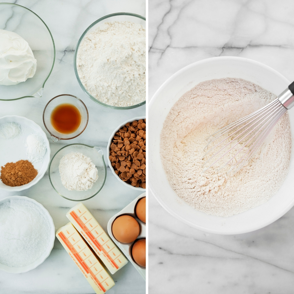 collage of ingredients for coffee cake