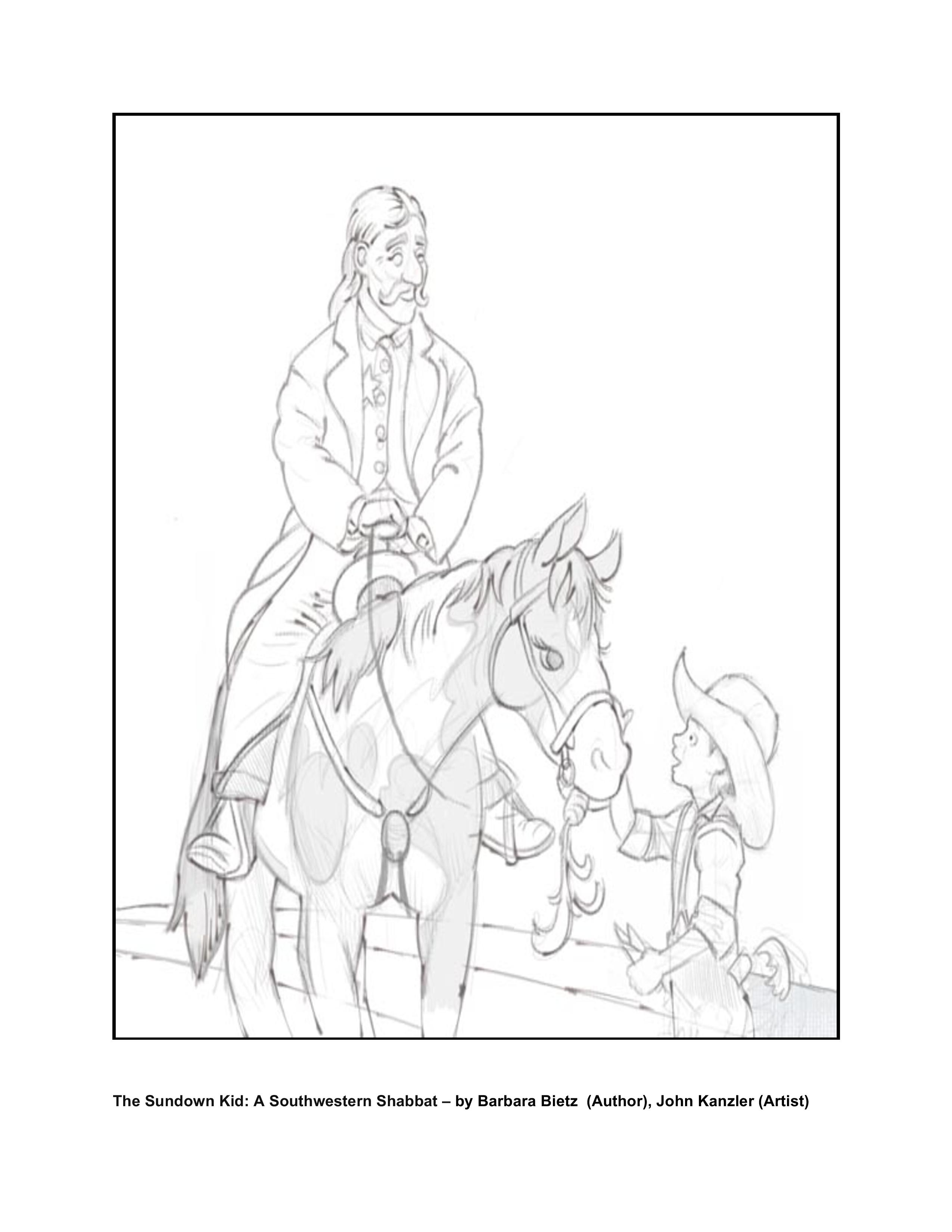 the sundown kid coloring page 2 - Kid Coloring Pictures 2