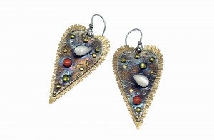 Metal Work - You Gotta Have Heart - Earrings