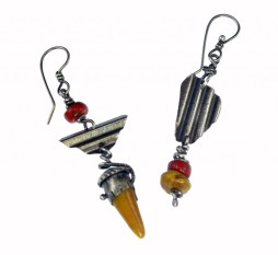 Mixed Media - Polymer clay - Earrings Redux