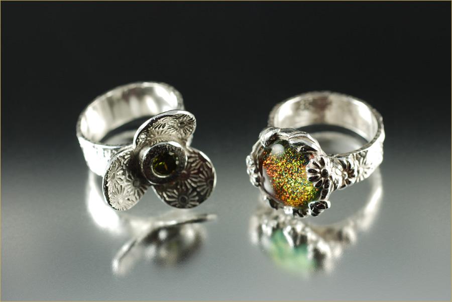 Silver Metal Clay Rings copy