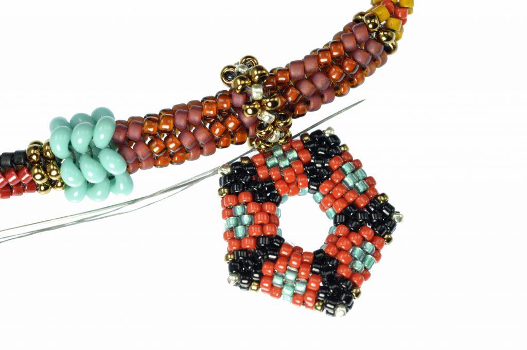 Tibetan Inspired Bead Rope Charm - Attachment