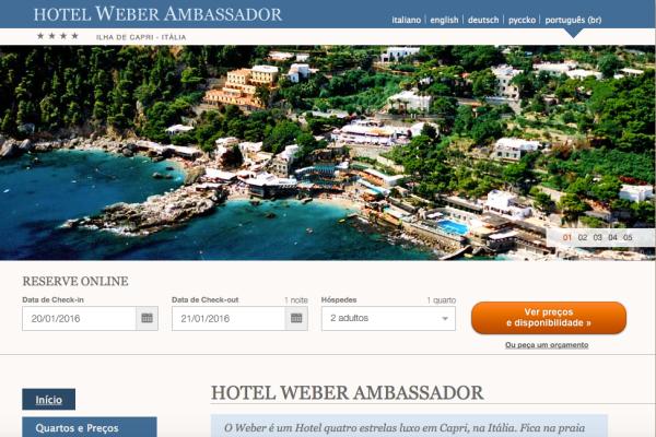 Hote Weber Ambassador in Portoghese