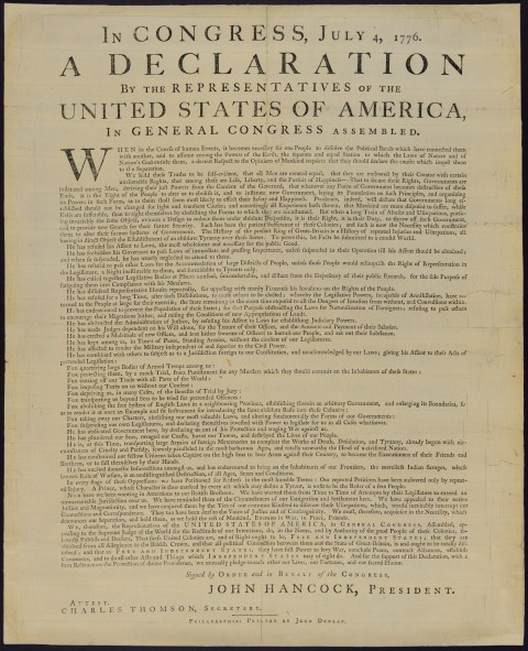 Declaration of Independence (Library of Congress)