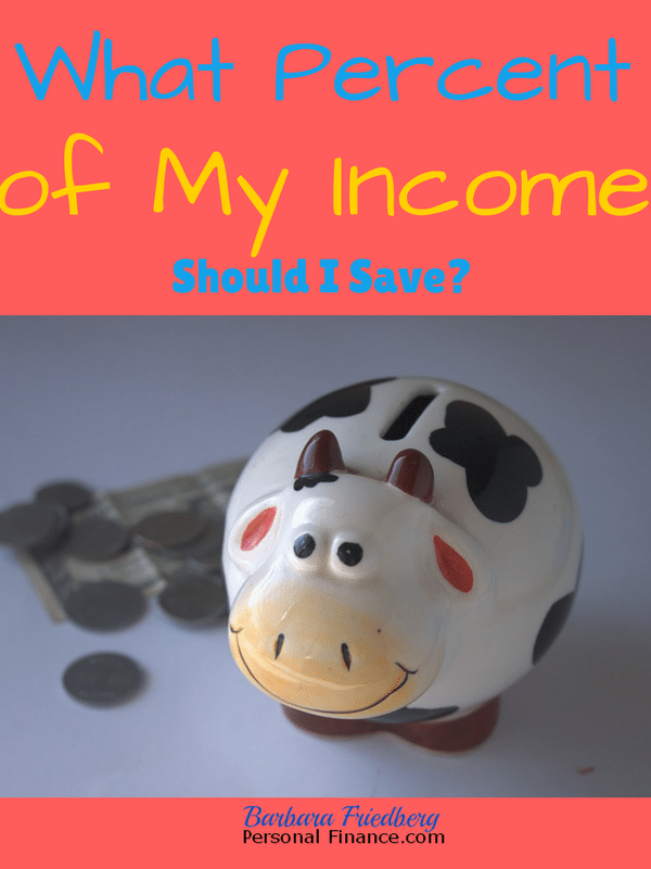What Percent Of My Income Should I Save