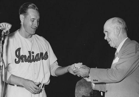 Bob Feller and Jack Graney, on Jack Graney Day