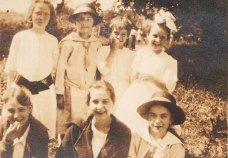 Photograph of my Aunt Pearl (far right, second row),