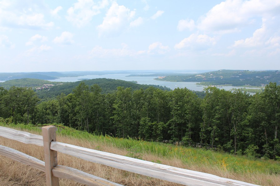 Gorgeous view from a new entry to Big Cedar Lodge