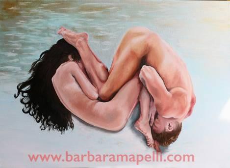 Barbara Mapelli - Adamo ed Eva, 2016 , Olio su tela, 50 cm x 70 cm.