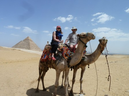 Camel Riding on our Honeymoon in Egypt April 2011