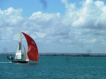 Incredibly fast racing boat in Chichester Harbour