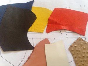 la selezione dei pellami e dei colori