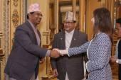 Barbara Neuhofer meets the Nepalese Tourism Minister Mr Jiwan Bahadur Shahi