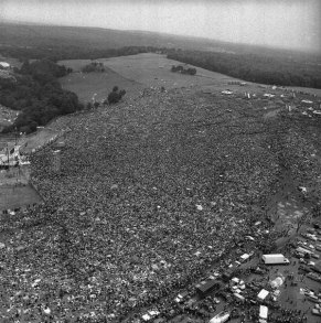 Folla al Festival di Woodstock
