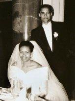 Barack e Michelle Obama il giorno delle nozze, 3 ottobre 1992