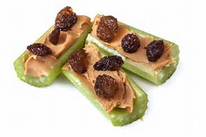celery with peanut butter
